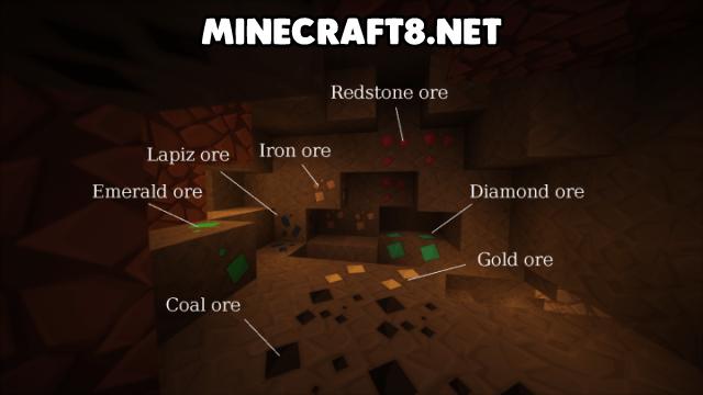 sapixcraft テクスチャ パック鉱石